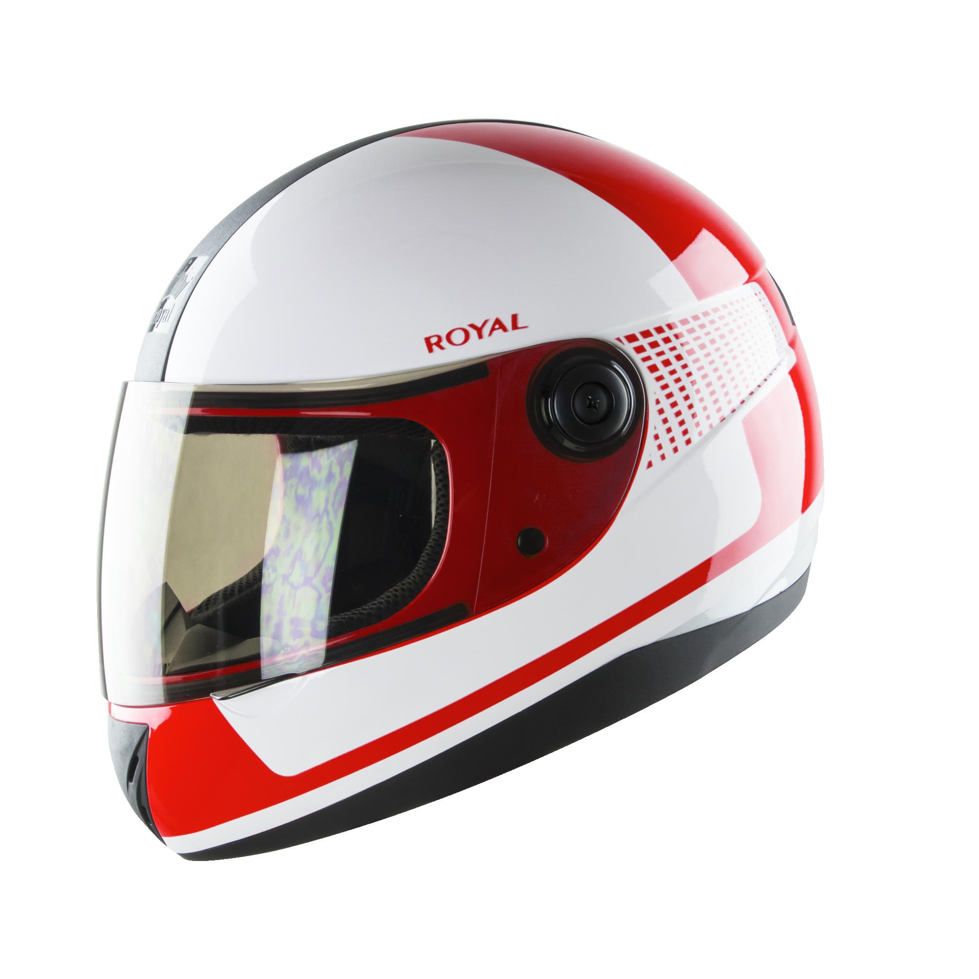Royal M02 V.1 trắng đỏ bóng