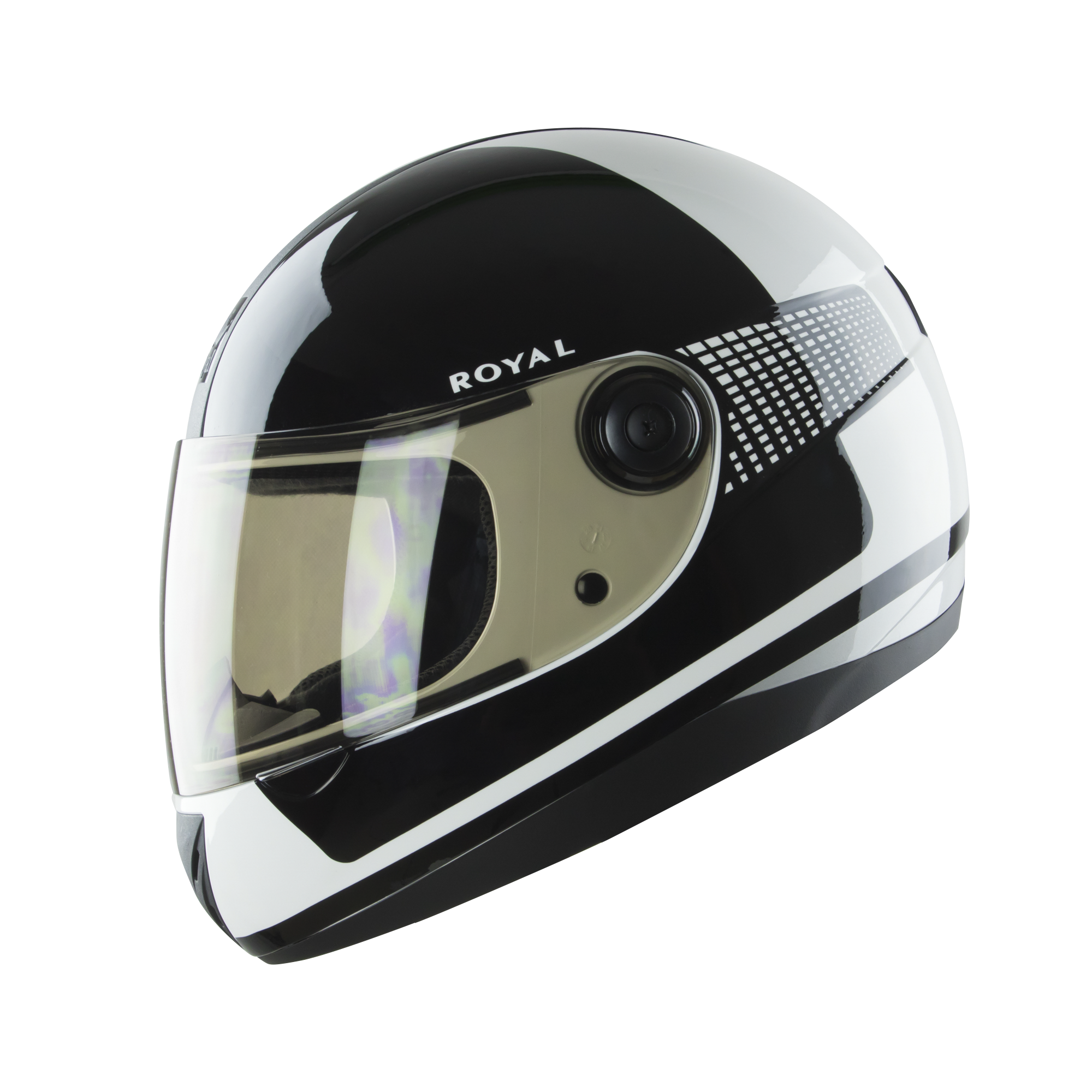 Royal M02 V.1 đen trắng bóng