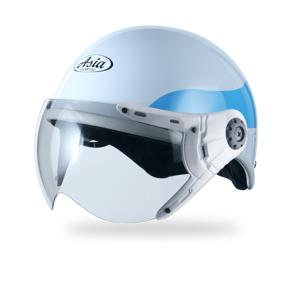 Asia MT 105 3MK8-trắng viền xanh bóng