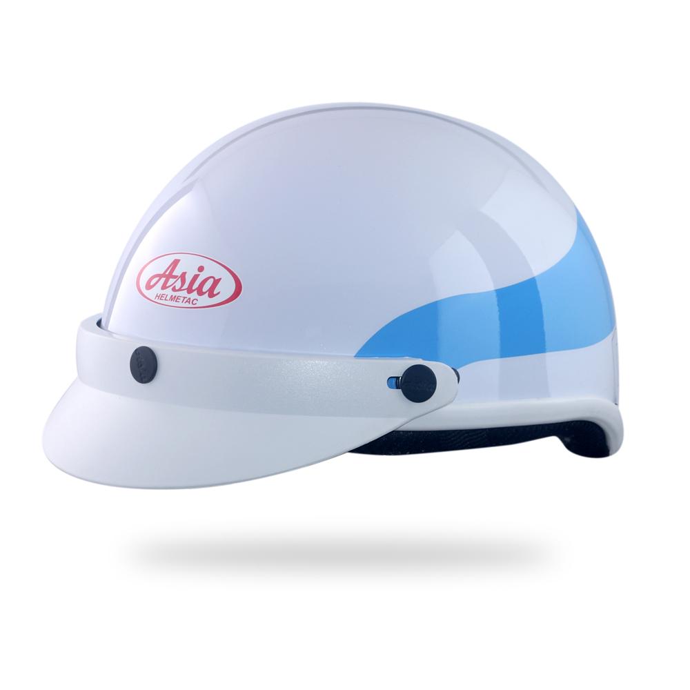 Asia MT 105 3M-trắng viền xanh bóng